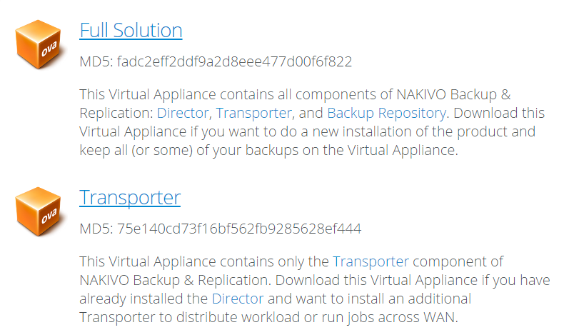 download virtual appliance