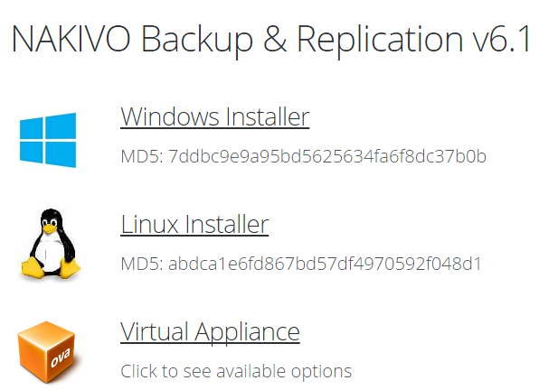 NAKIVO Virtual Appliance – Simplicity, Efficiency, Scalability