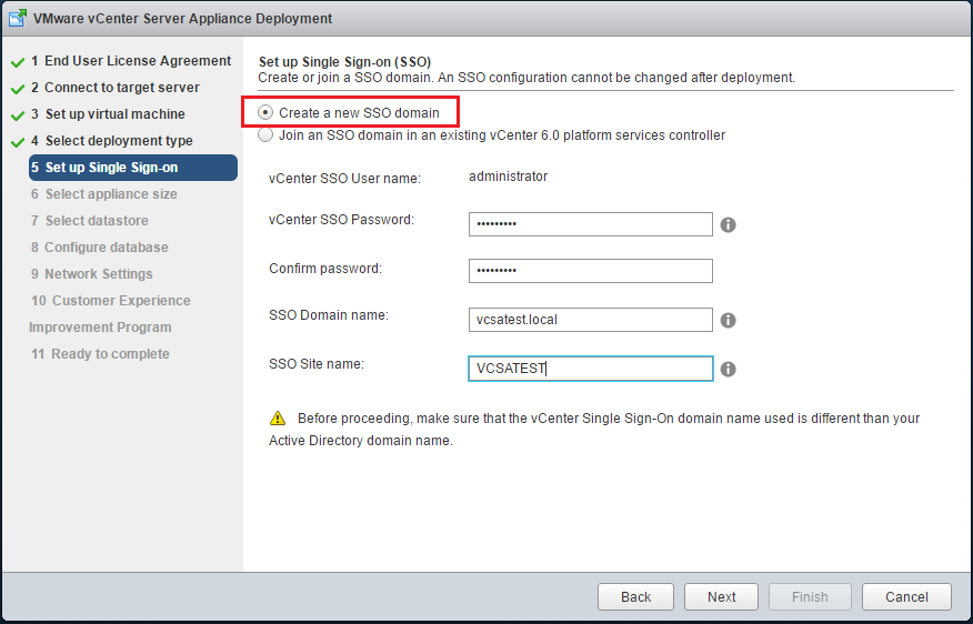 VMware vCenter Deployment