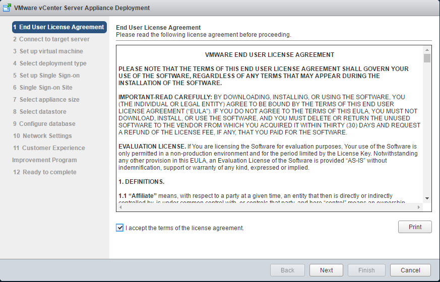 VMware End User License Agreement