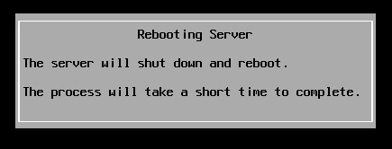 Harware server reboot