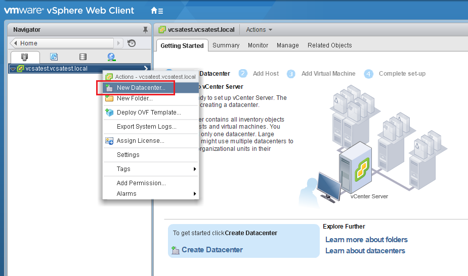 Konfigurieren eines VMware ESXi-Clusters