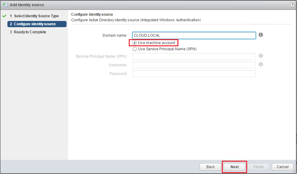 Configure Active Directory identity source