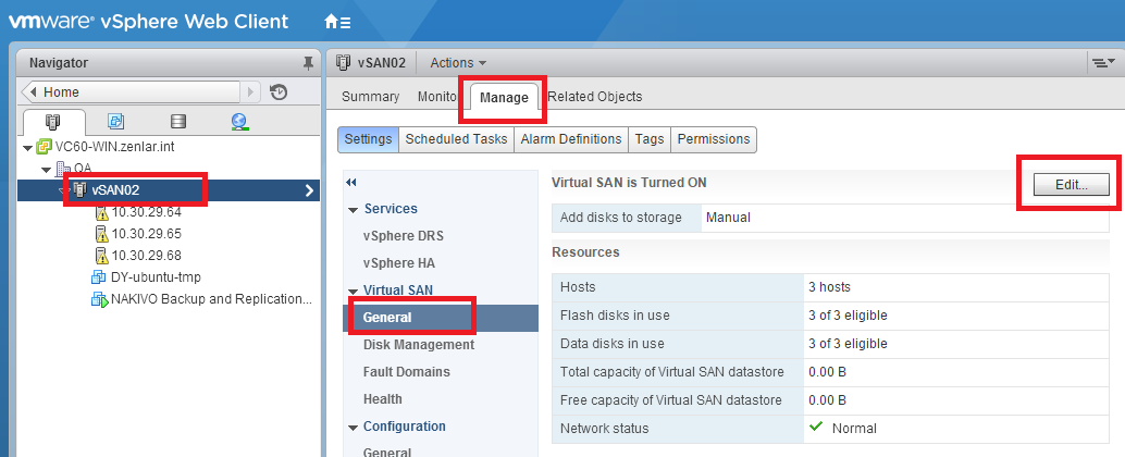 Build a vSAN cluster