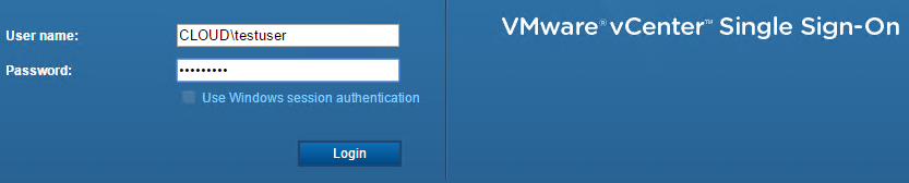 VMware vCenter Single Sign-On