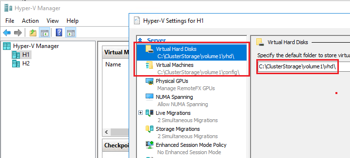 Change Hyper-V Settings in Hyper-V Manager