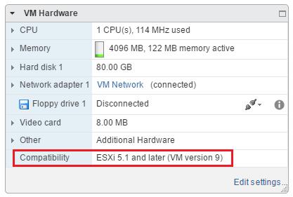 vmware esxi compatibility