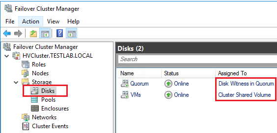 Failover Cluster Manage