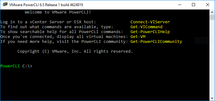 VMware PowerCLI - PowerShell Commandlets