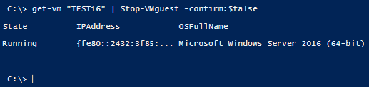 Stop-VMguest –confirm:false