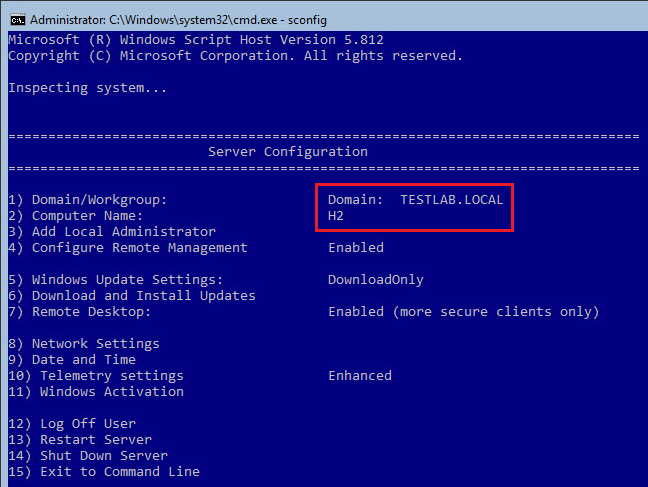 Windows Server Configuration