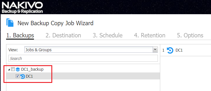 New Backup Copy Job Wizard