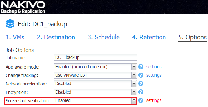 VMware Backup Verification