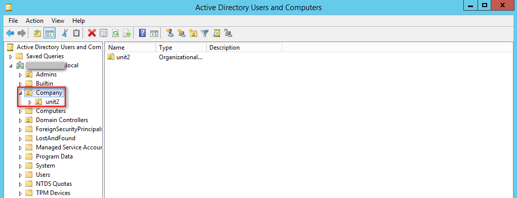 Active Directory Organizational Unit