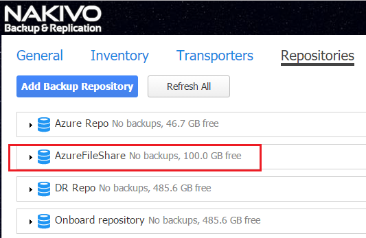 Azure File Share Added