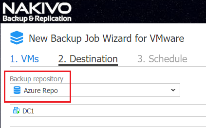 Backup Repository in Azure Cloud