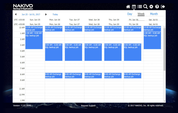 NAKIVO Job Scheduling