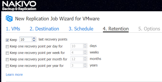 Retention on a Replica VM