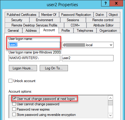 Recovered User Must Change Password at Next Logon Attribute