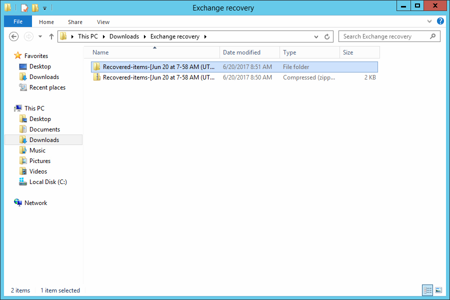 Download and Unzip Objects Recovery Archive