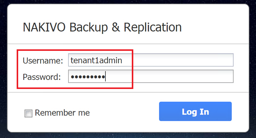 Delivering BaaS and DRaaS with Multi-Tenancy – BaaS Configuration