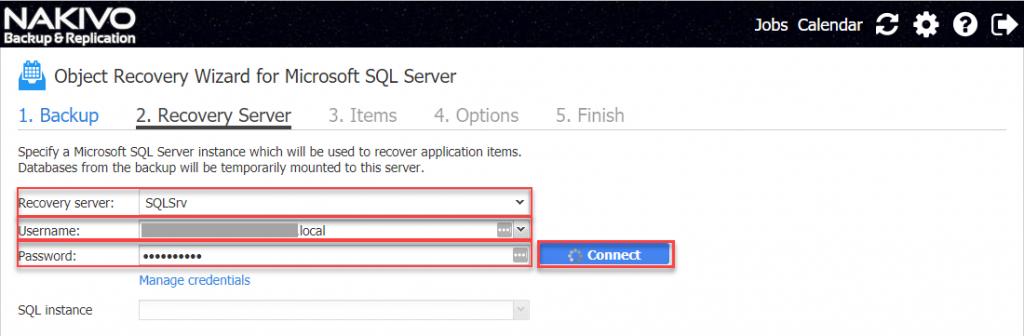 SQL Server credentials