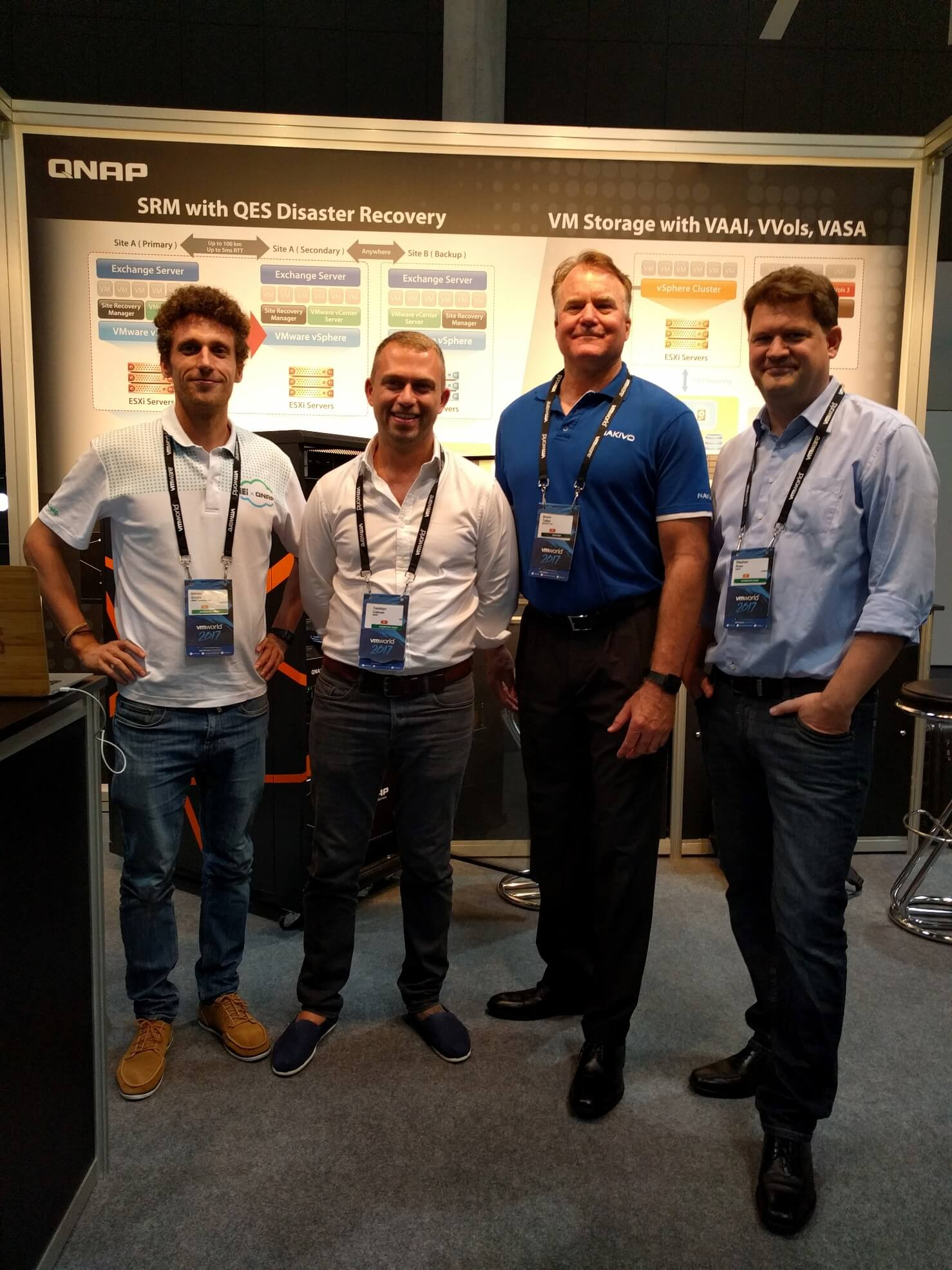 NAKIVO meets QNAP at VMworld