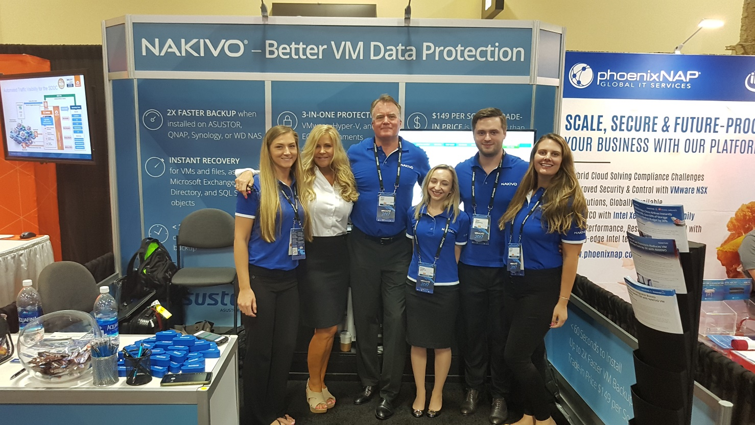 NAKIVO team at VMworld Las Vegas