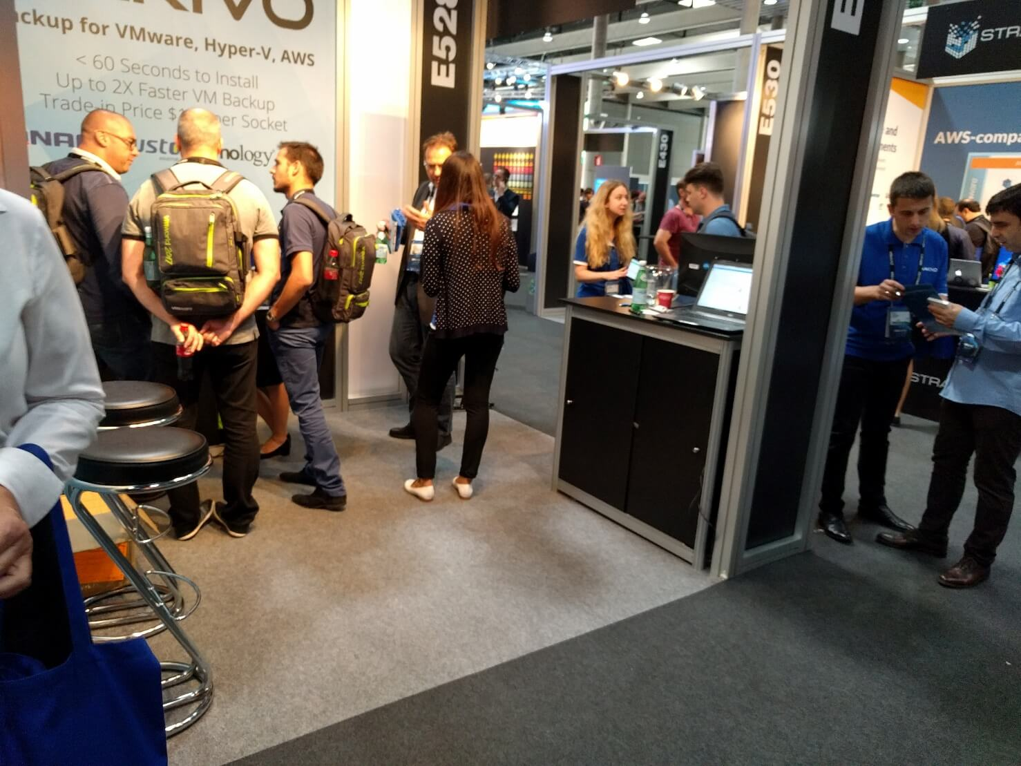 NAKIVO booth at VMworld Europe