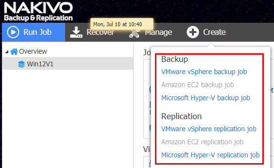 Native VM backup solution overview