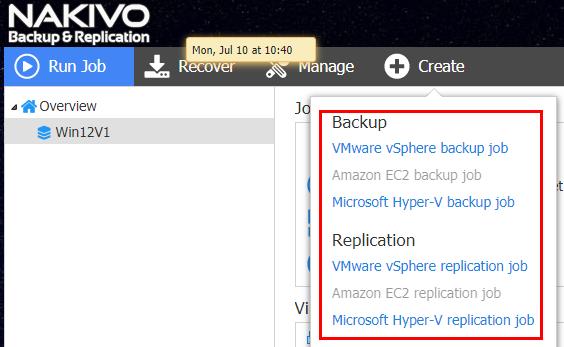 Native VM backup solution overview