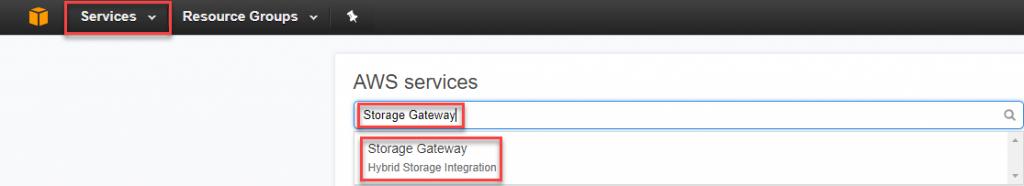 Storage Gateway in AWS services