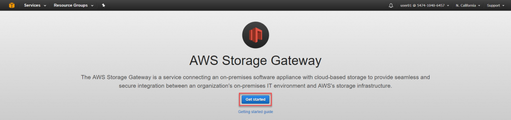 Get started with AWS Storage Gateway