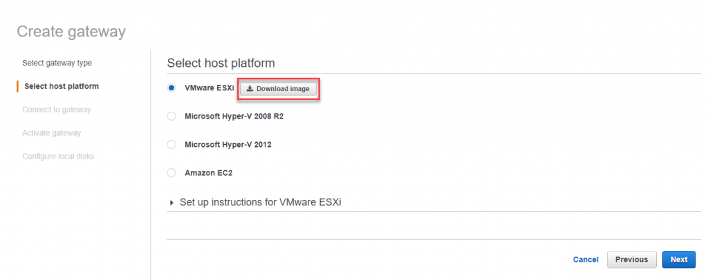 Download image for VMware ESXi