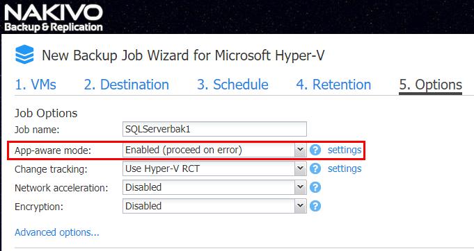 Best Way to Back Up Hyper-V VM: Creating a new Hyper-V VM backup job with Resilient Change Tracking enabled