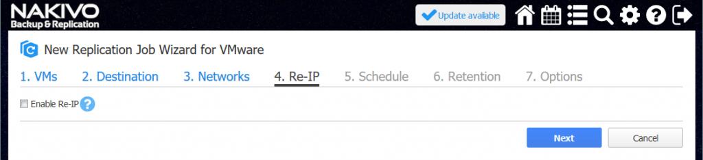 Re-IP settings