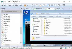 Accessing the VM's user interface in VMware Workstation