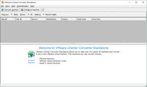 Main interface of VMware vCenter Converter