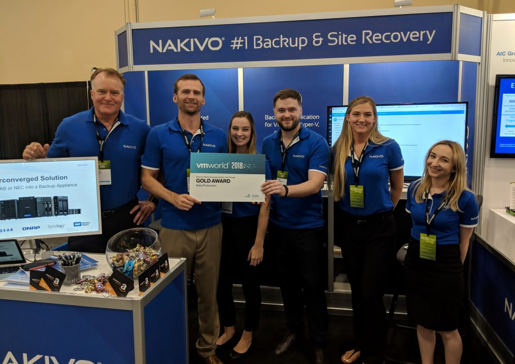 NAKIVO Wins Best of VMworld Gold Award in Data Protection
