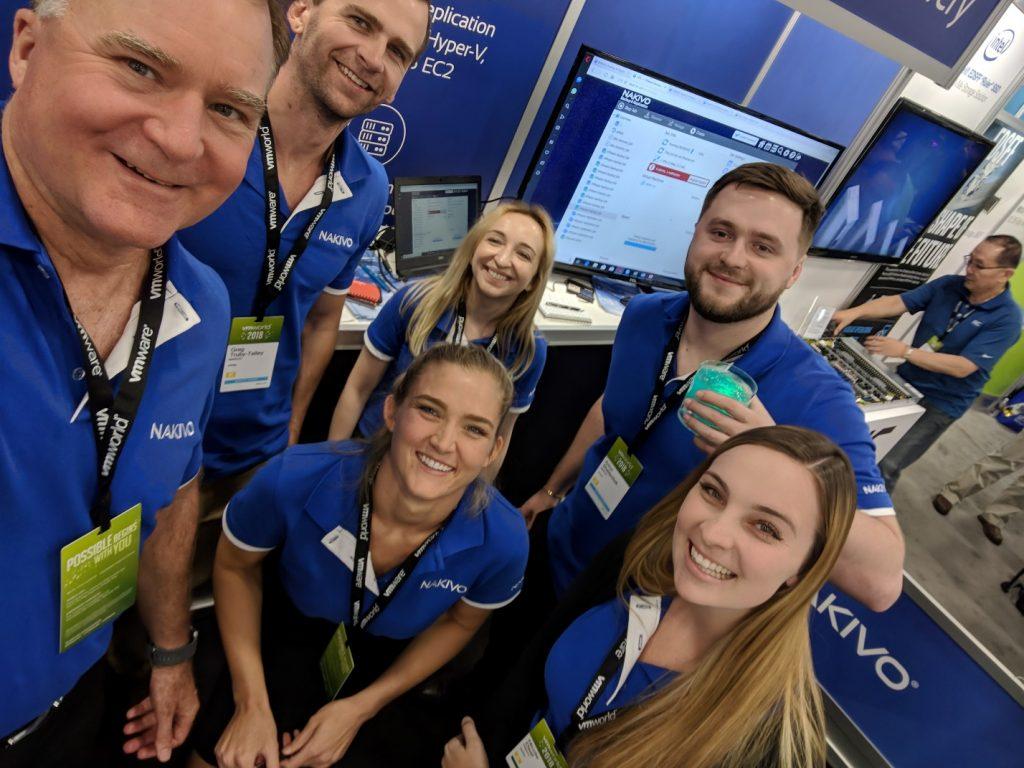 NAKIVO team at VMworld 2018 US