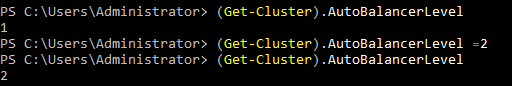 Configuring the aggressiveness threshold for Hyper-V Load Balancing in PowerShell