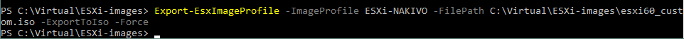 Creating the ESXi installation ISO file