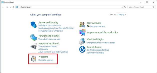 Microsoft Control Panel