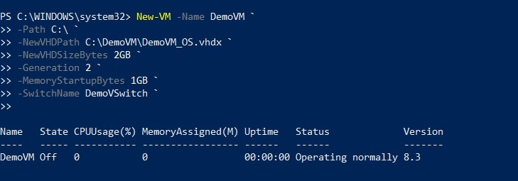 Creating a new VM with PowerShell