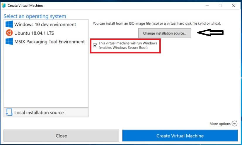 Enabling Windows Secure Boot