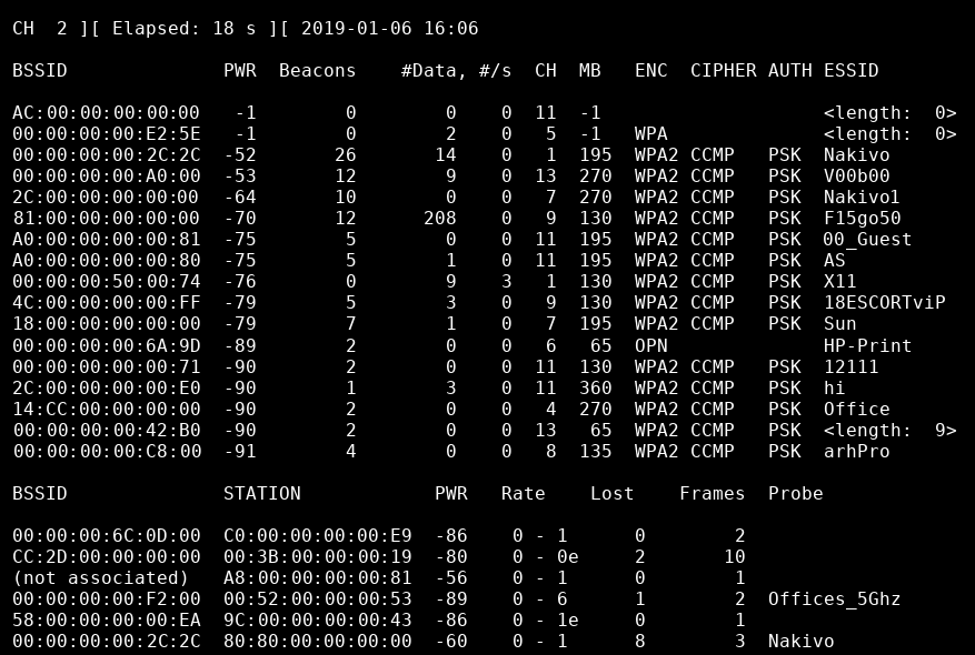 How to Install Kali Linux on VMware: Monitoring wireless access points and clients with airodump-ng by using Kali Linux installed on a VMware VM
