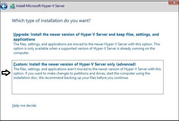 How to Install Hyper-V_Installation Type