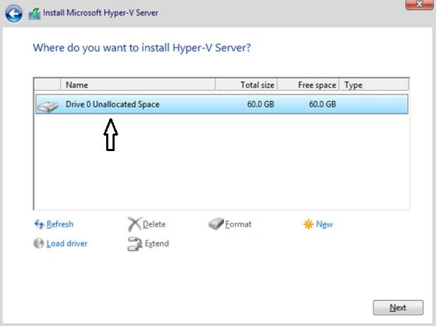 How to install Hyper-V_Drive allocation