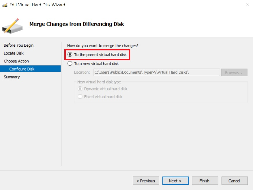 Merge Hyper-V Snapshots to the Parent Disk