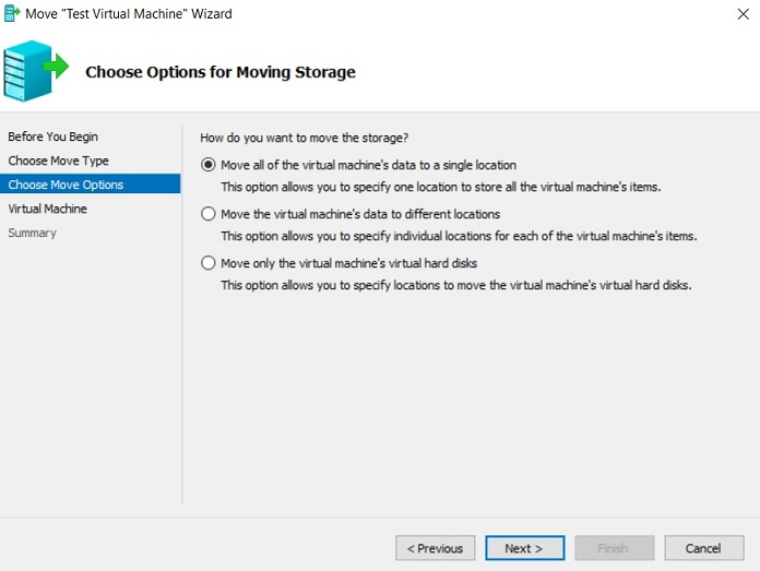Move Wizard in Hyper-V Manager